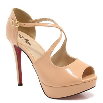 Peep Toe Zariff Shoes Feminino - Nude