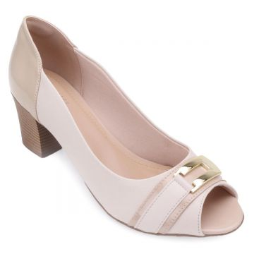 Peep Toe Lady Queen Feminina - Nude