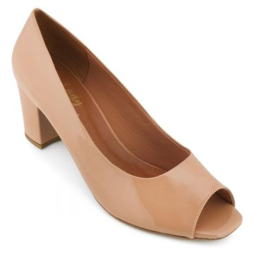 Peep Toe Lady Queen Feminino - Bege
