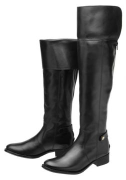 Bota Encinas Leather Montaria Over Knee - Preto