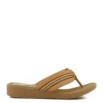Chinelo Couro Derby Soft - Nude
