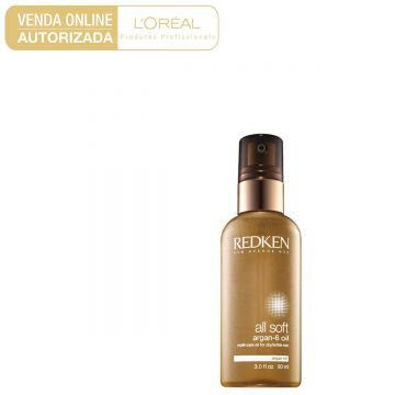 Óleo de Tratamento Redken All Soft Argan-6 90ml - Incolor