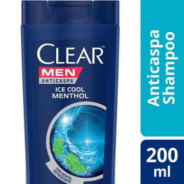 Shampo Clear Ice Cool Menthol Anticaspa 200ml - Incolor