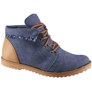 Bota Ankle Boot Ramarim 16-9101 - Jeans (lona/napa Light)