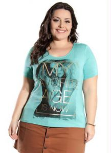 Blusa Viscose Verde Miss Masy Plus