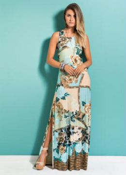 Vestido Longo Mix Floral Quintess