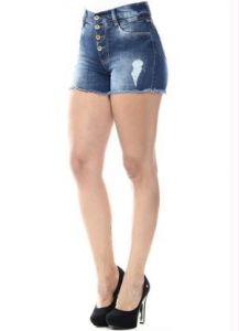 Shorts Hot Pant Azul Sawary
