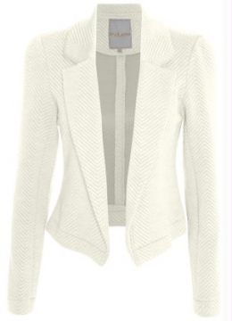 Blazer Cropped Assimétrico Endless Off White