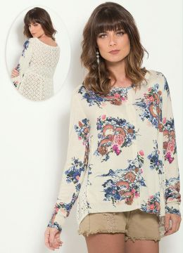 Cardigan Farm Off White Floral Laise