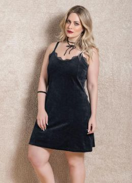 Vestido Slip Dress Quintess Preto
