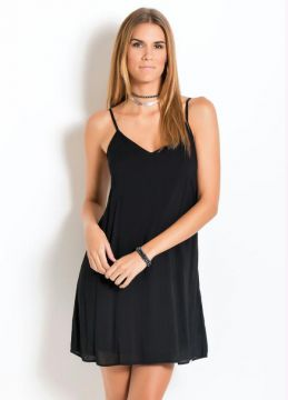 Vestido Slip Dress Preto Quintess
