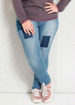 Calça Jeans Skinny Plus Size Quintess