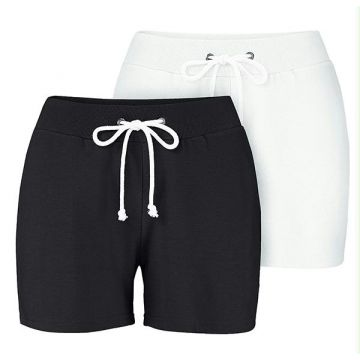 Kit 2 Short de Moletom Preto