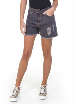 Short Jeans Destroyed Azul Miss Masy