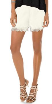 Short Chiffon com Renda Endless Bege