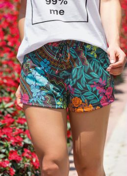 Short Estampado com Cordão Decorativo