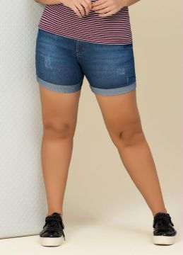 Bermuda Jeans Jeans Escuro Lisamour