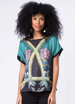 Blusa Mix Carmen Verde Mercatto