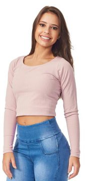 Blusa Cropped Rosa