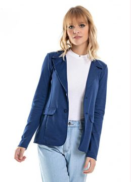 Blazer Ponto Roma Azul - Up Close