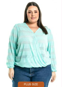 Blusa Pulse Verde - Miss Masy Plus