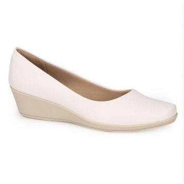 Piccadilly - Sapato Anabela Piccadilly Branco Branco