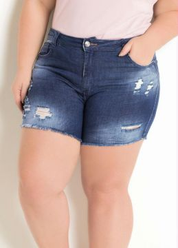 Sawary Jeans - Short Plus Size Jeans Sawary Destroyed