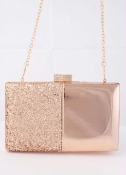 Quintess - Bolsa Clutch Rose Gold