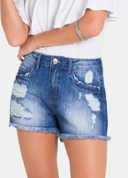 Lunender - Short Cintura Media Jeans Medio
