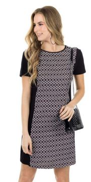 Habana - Vestido T-dress Estampado Preto