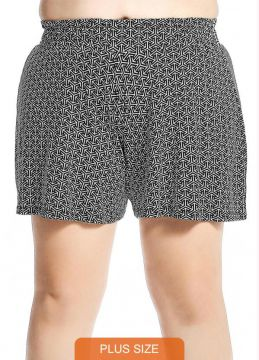 Rovitex Plus Size - Short Plus Size Feminino Preto