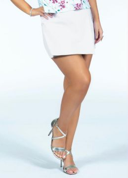 Quintess - Short-saia Branco Com Fivela Na Lateral