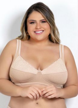 Alma Dolce - Sutiã Plus Size Chocolate Com Renda