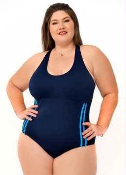 Sporting Way Fitness - Maiô Plus Size Azul