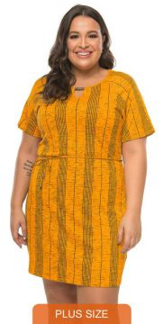 Rovitex Plus Size - Vestido Estampado Rovitex Plus Size Amar