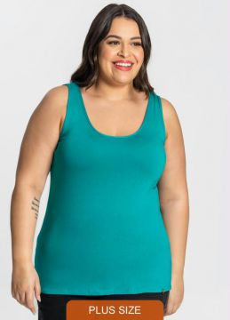 Rovitex Plus Size - Regata Viscotorcion Feminina Plus Verde