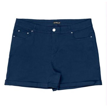 Rovitex - Short Canvas Feminino Azul
