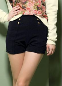 Short Hot Pants Preto