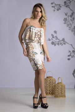 Vestido Fenda Fashion