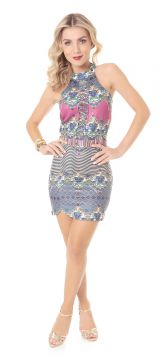 Vestido Mix Estampas