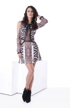 Vestido Power Animal Print