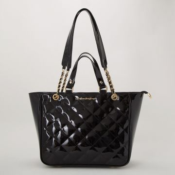 Bolsa Matelassê Verniz Black - Carmen Steffens