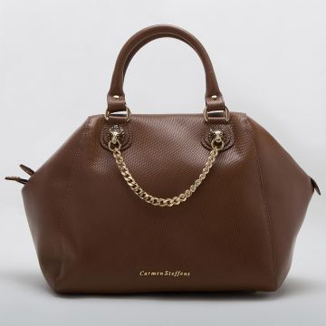 Bolsa Brown Correntes - Carmen Steffens