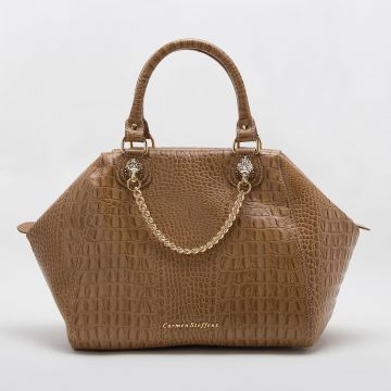 Bolsa Caramelo Correntes - Carmen Steffens