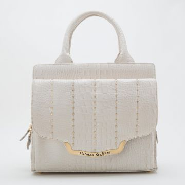 Bolsa Off White Pontos Gold - Carmen Steffens