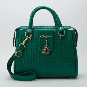Bolsa Verde Cadeado Coração - Carmen Steffens