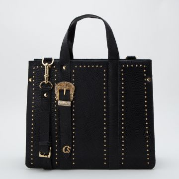 Bolsa Fivela Preta - Carmen Steffens