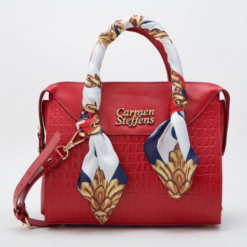 Bolsa Vermelha Lenço Náutico - Carmen Steffens