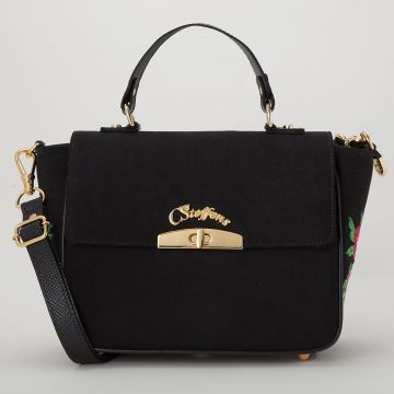 Bolsa Preta Bordada - Carmen Steffens