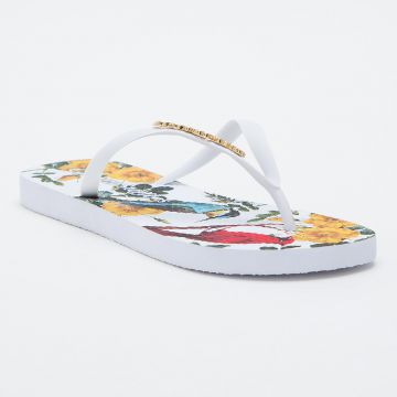 Chinelo Tropical Branco - Carmen Steffens